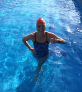 Nadando los últimos kms del 2014!