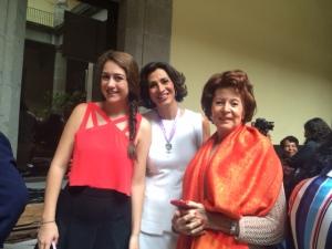 Con Andrea mi hija y mi mamá Elvira!